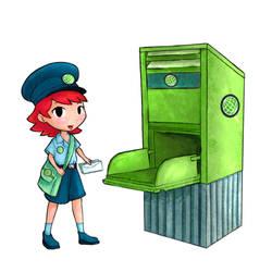 Post girl by tsuta