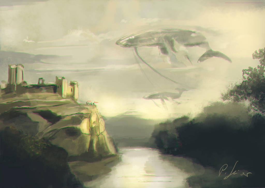 Richmond Castle Whales by BloodyWing