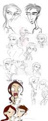 Tomb Raider Sketch Dump by AdriennSteel