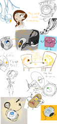Portal Sketch Dump 2 by AdriennSteel