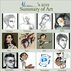 2011 Art Summary by AdriennSteel