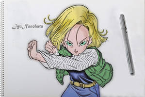 Android 18 Dragon Ball #2 by JyuNanohara