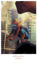 Spider-Man cruising by StephaneRoux