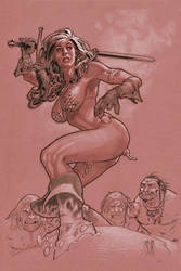Red Sonja Commission by StephaneRoux