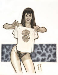 Mary Jane and Spidey Tee by StephaneRoux