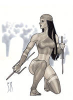 Elektra Sketch by StephaneRoux