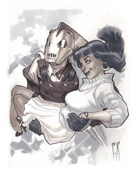 Rocketeer and Betty by StephaneRoux