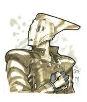 Rocketeer head sketch by StephaneRoux