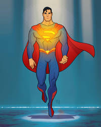 Superman animated re-deign by StephaneRoux