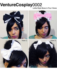 VC Hair Bow Sewing Pattern and Tutorial by AdrienneOrpheus