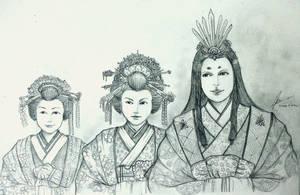 The Three Minamori Sisters by Gambargin