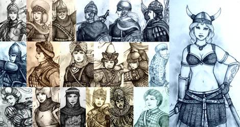 Women Warriors - Why U No Draw Breast-armor? by Gambargin