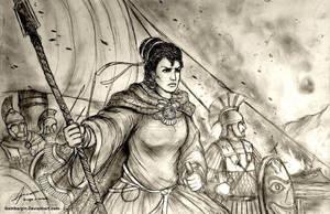 Artemisia I of Caria, 480 BC - Women War Queens by Gambargin