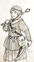 Fantasy Hijabi Woman Warrior by Gambargin