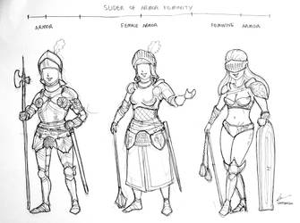 The Slider of Armor Feminity by Gambargin
