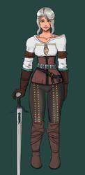 Ciri The Witcher fanart by MirokuSakumi