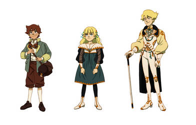 some characters by r1ie