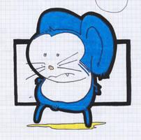 strange blue mouse by monokoma