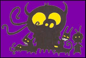 shadow monsters by monokoma