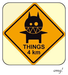 warning things 4 km by monokoma