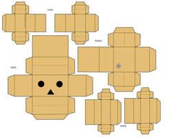 Danbo Papercraft by mio-mio