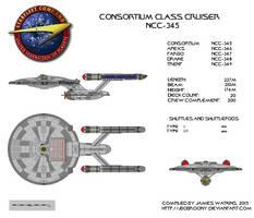 Consortium Class Starship NCC-345 by jbobroony