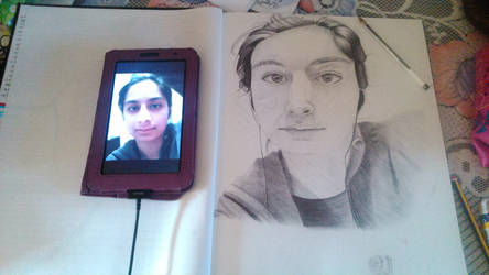 My Very First Self Portrait | Bic Biro Pen by SugarBubbles2000