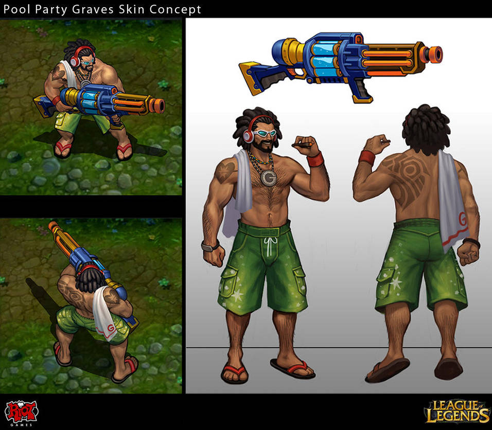Pool Party Graves Skin Concept By Yideth On Deviantart