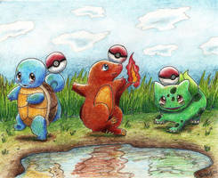 The Kanto Starters by MusicMew
