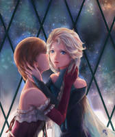 Elsanna -- Frozen heart by PHOEBELIN001
