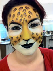 leopard facepaint. by kasarabangbang