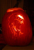 Zombie Pumpkin Carving by Revelation-Six