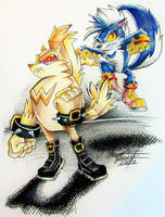 SONIC: Rough and tumble. by Bowgirl5