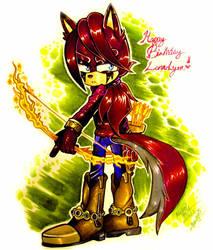 GIFT ART: Happy B-day Lunarlyra! :) by Bowgirl5