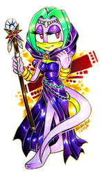 ART TRADE: Thanja the Gecko by Bowgirl5