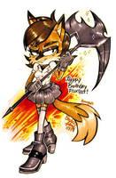 GIFT ART: Happy B-day FOXBIT!! :) by Bowgirl5