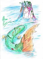 Mermaid by hewhowalksdeath