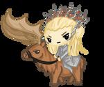 Request: Thranduil and his Elk~! by Ijen-Ekusas