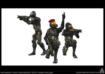 FYP - Enemy Soldier 02 by muzzam1990