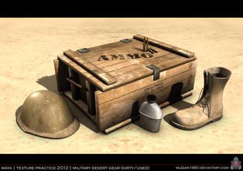 Military Desert Gear - Dirty-Used by muzzam1990