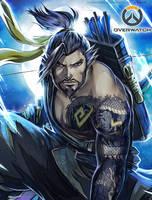 Overwatch: Hanzo by SaraSama90