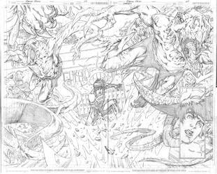 Superboy 23 pages 04 and 05 by robsonrocha