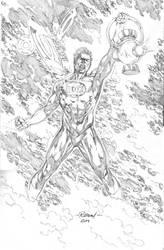 Green Lantern Commission by robsonrocha