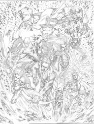 Avengers Forever Commission by robsonrocha