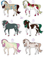 Fantasy Horse Adoptables by LittleLace
