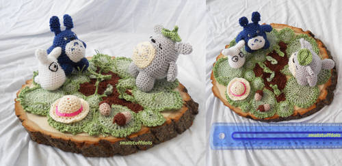 Amigurumi Scene: Totoro by TheSmall-Stuff