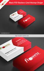Black-PSD-Business-Card-Mockup-Design by DesignsCanyon