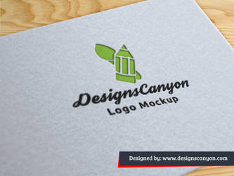 Paper Logo Mockup Template by DesignsCanyon