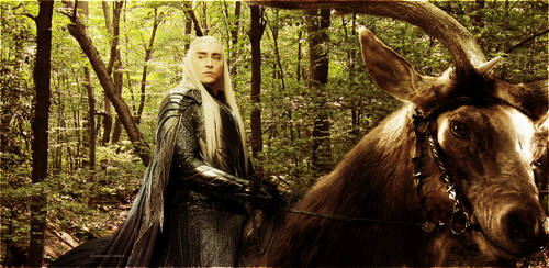 Thranduil and Moose by Athraxas