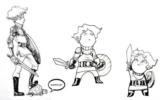 Patrick doodling styles by Ignifero